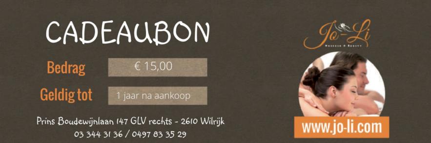 Cadeaubon €15